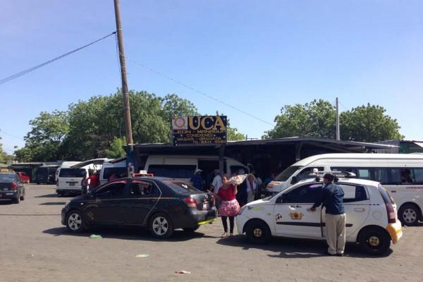 Bus terminal in Leon, Nicaragua