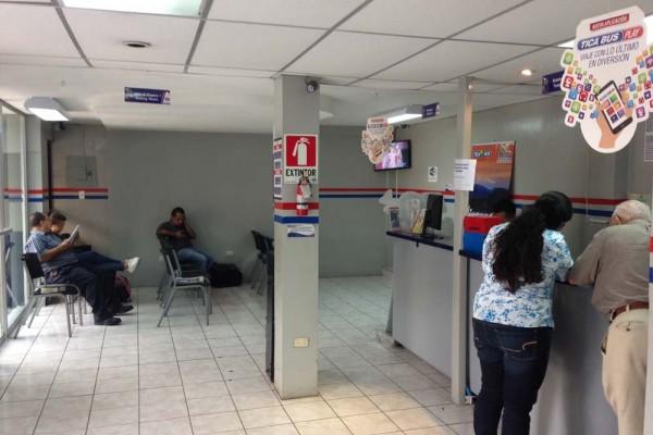 Tica Bus office San Benito area of San Salvador
