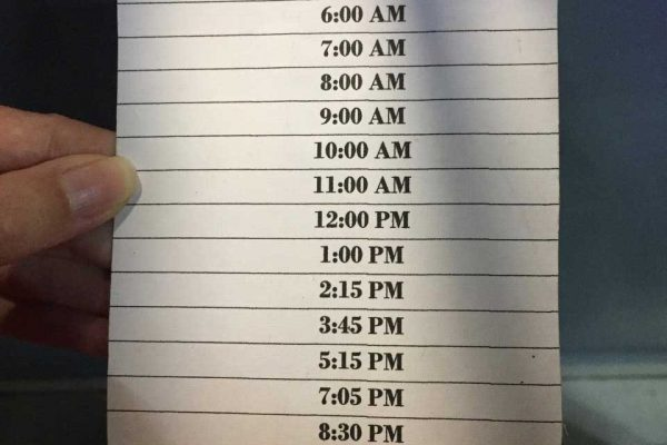 bus schedule from David to Panama City