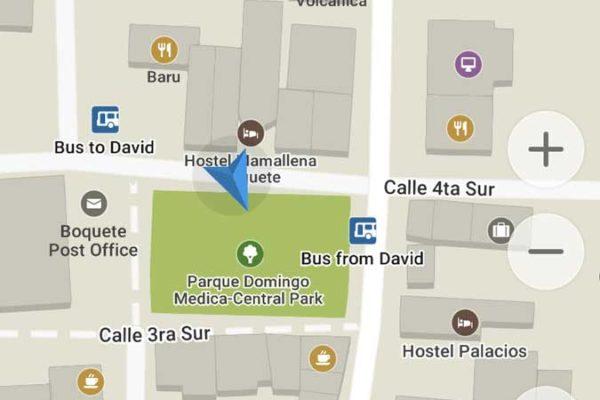 Bus stops in David