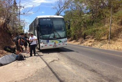 Barranca Drop off point for busses coming from Santa Teresa heading to Piñas Blancas