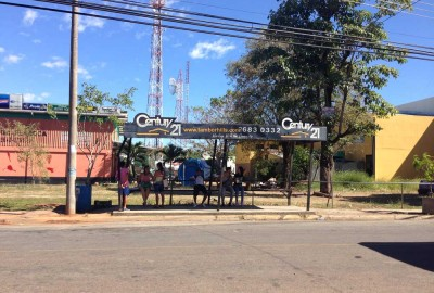 Main bus stop in Cobano, Costa Rica