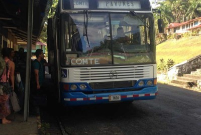 Bus from Golfito to Pavones, Costa Rica