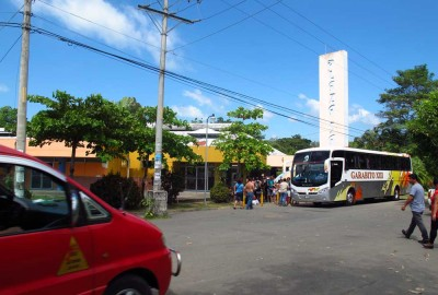 Outside the main bus terminal to San Jose in Jaco, Costa Rica