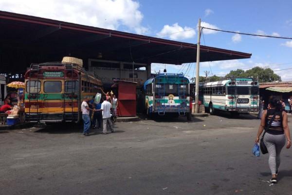 Mercado Roberto Huembes Bus Station, Managua Nicaragua