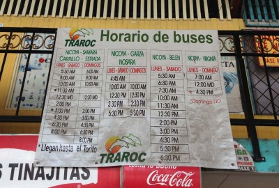 Nicoya Bus Schedule