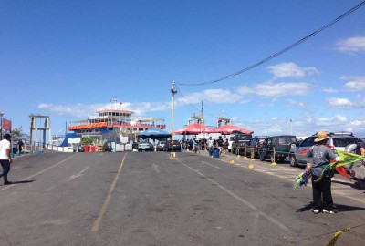 The ferry on the Puntarenas side - Costa Rica