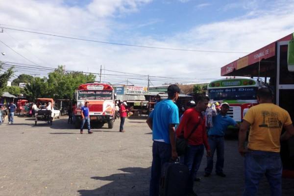 Rivas bus station, Nicaragua