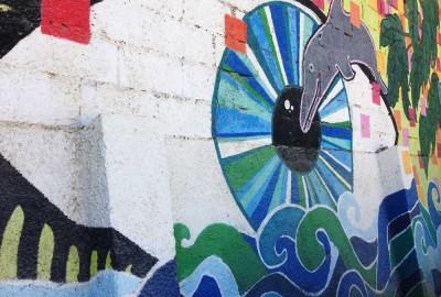 Montezuma mural on wall