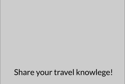 A simple box that says: Share your knowlege
