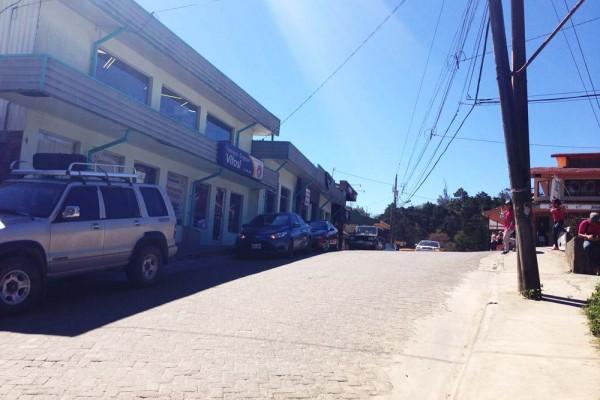 Bus stop to Tilaran in Monteverde, Costa Rica