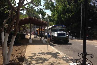 Concepción de Ataco bus stop