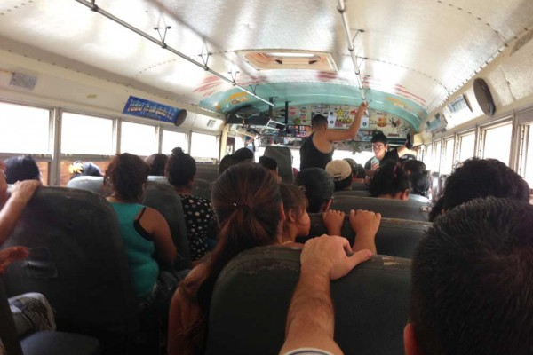 Inside the 192 Bus to La Libertad
