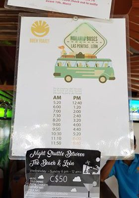 Las Penitas to Leon bus schedule