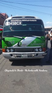 Bus to Chiquimula