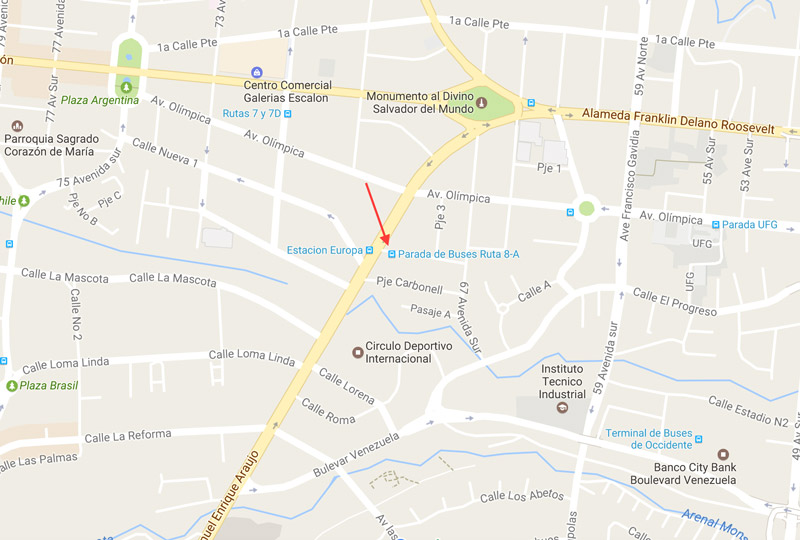 Ruta de Microbuses 8-A San Salvador