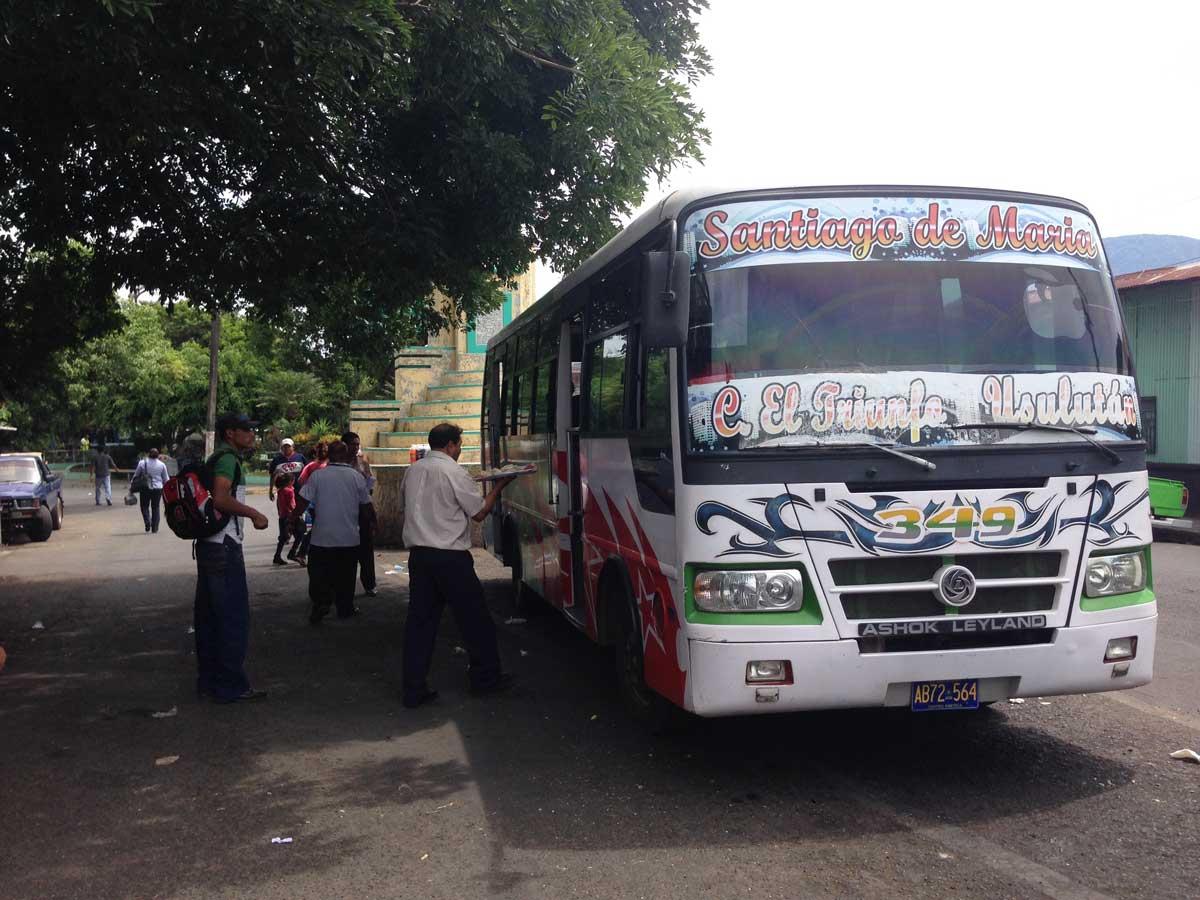 Santiago de Maria microbus to Usulutan