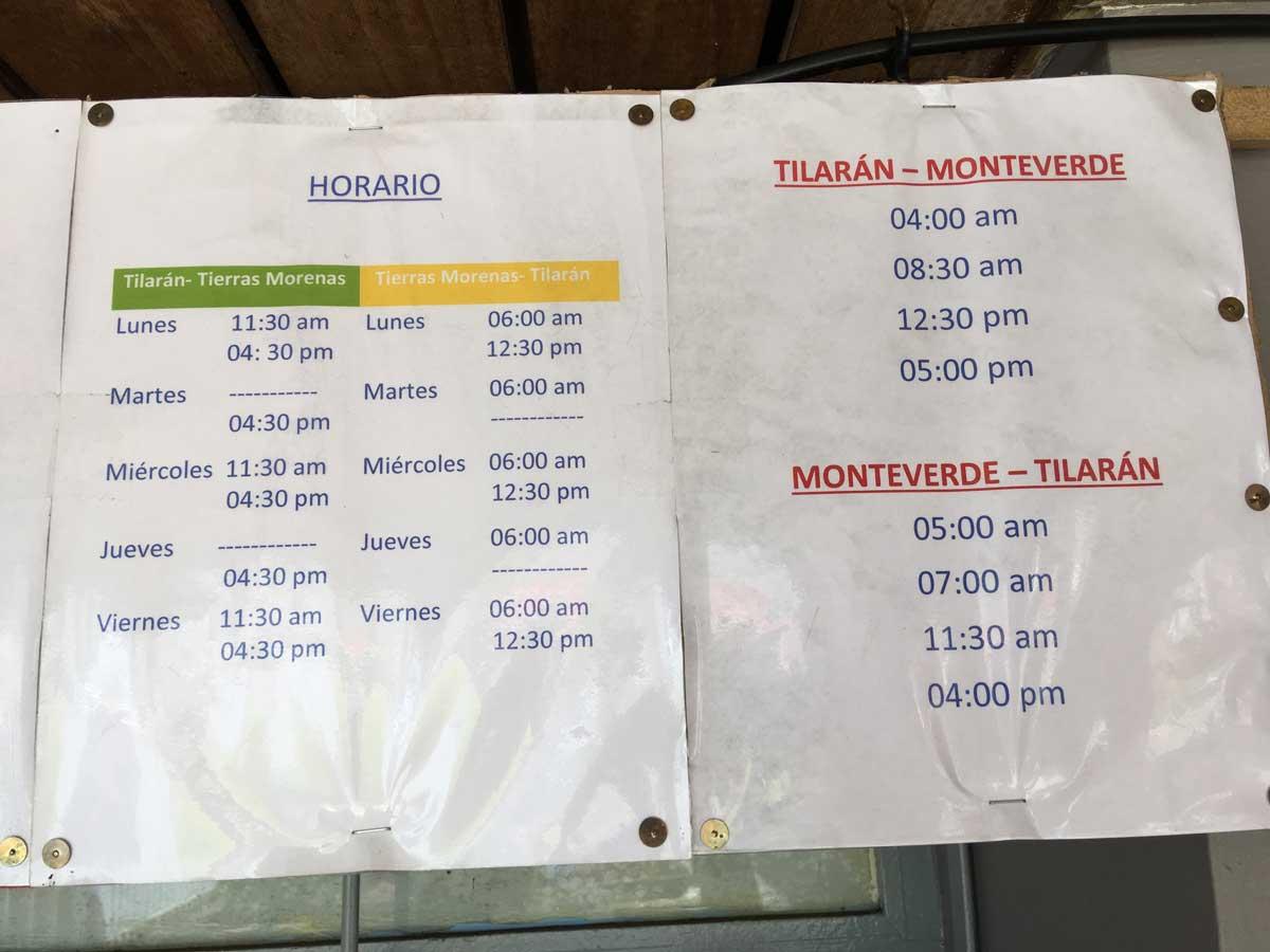 Monteverde / Santa Elena - Costa Rica - Bus Travel Guide